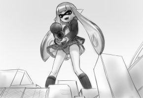 super size squidloli's gonna splat the city by AlloyRabbit