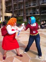Bulma vs the Btch by Darkus04