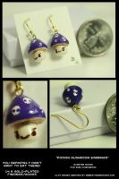 Toxic Mushroom Earrings by CatharsisJB