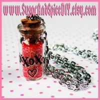 Love Potion Glitter Necklace by SugarAndSpiceDIY