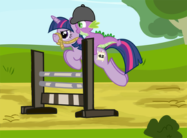 Pony Jumping by SylvesterKittyCat