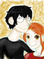 Harry and Ginny by katheric