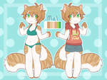 fursona reference! by crwns