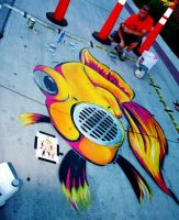 Storm Drain Fish by abcartattack