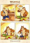 Wuffle and omelet by PitiYindee