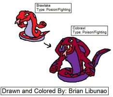 Fakemon: Fighting snakes by Brian12