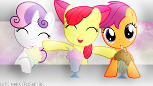 Cutie Mark Crusaders Wallpaper - Milkshakes! by JeremiS