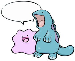 Ditto and Quagsire by LeluDallas