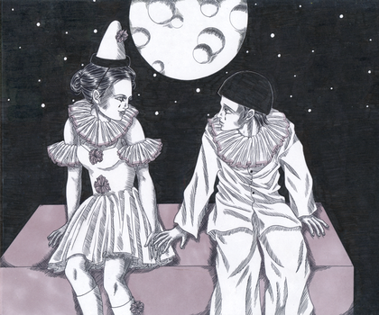 Pierrot and Pierrette by Nyxity