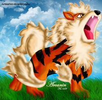 Pokemon -059 Arcanine- by Junleashed