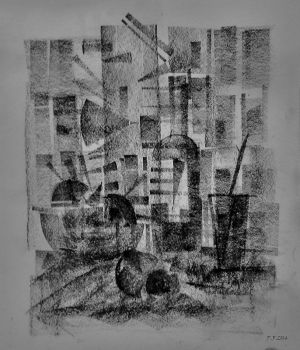 still life charcoal by Boias