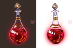 Small Items__Potion Vial by BlackBirdInk