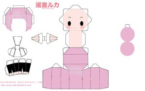 JBF megurine papercraft by Kyo-Muze