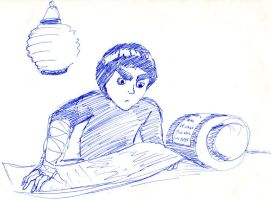 Rock Lee with a scroll by infiniteviking