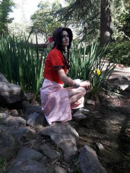 aerith gainsborough: Thinking of you Zack by mandychan00