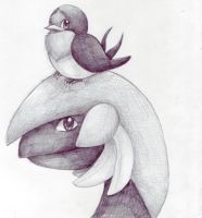 Taillow and Tropius by PacificPikachu