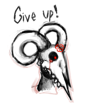 Isaac- Give up by PurrinceKitty