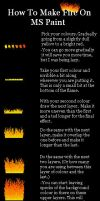 Tut- Fire on MS Paint by Thelurkerofdoom