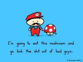 Super Mario and Mushroom by sebreg