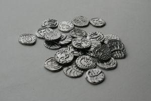 Anglo-Saxon sceattas by Dewfooter