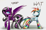 Oh you, Rainbow. by KairaAnix