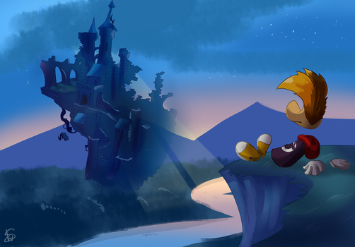 Rayman-Toad Story flying castle by Oluta-LaiSam