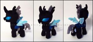 Plushie: Filly Changeling - My Little Pony: FiM by Serenity-Sama