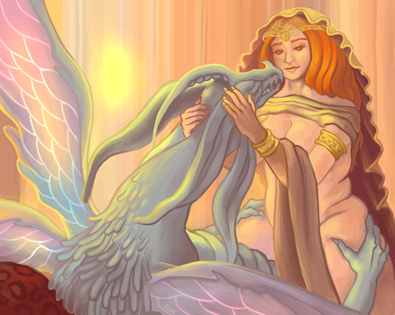 Divine Blessing by Anjaelster