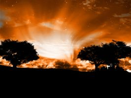 Orange Sky by FlowGraphic
