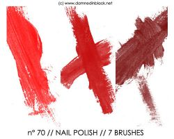 PHOTOSHOP BRUSHES : nailpolish by darkmercy