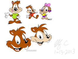 Kyle Chipmunk 2013 collab by spongefox
