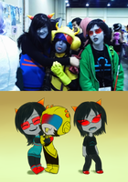 Katsucon 2013 - LaTuna and Terezi by SanchaySquirrel