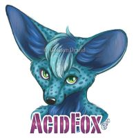AcidFox Badge Commission by GoldenDruid