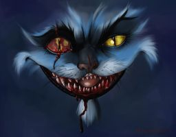Cheshire Cat Fight by MorgueArt