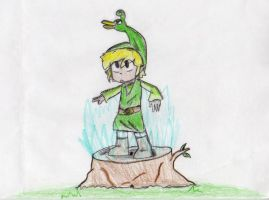 Minish Cap: Link and Elzo by sailor663