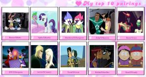 My Top 10 Favorite Couples by SithVampireMaster27