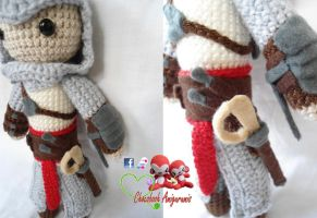 Altair Amigurumi (Assassin's Creed) -other view- by franfalla