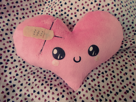 .: Little Heart Plushie :. by Fallenpeach