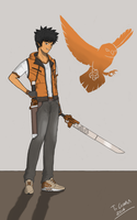 (Rwby oc) Katsuo Atesh by SliverKatanaWings98