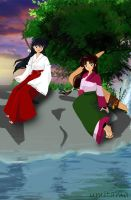 Kagome and Sango by Umitama