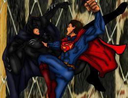 Injustice Batman vs superman by SamThePenetrator