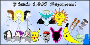 1000 Pageviews. by chickenrain
