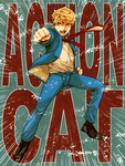 Action Cat by nezumi-zumi