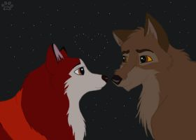 Valentines: Balto and Jenna by Spazzel