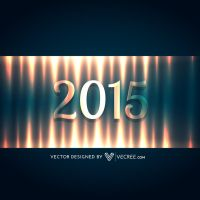 Happy New Year 2015 Free Vector by vecree