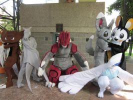 A-Kon 23: Pokemon shoot: All Fursuiters by Inept-Evil-Genius