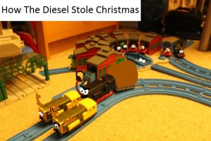 How the Diesel stole Christmas poster by mrathehedgehog