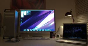 "Mac Pro and 30"" ACD Setup by Pinky-von-Pout"