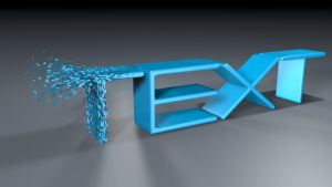 Cinema 4D|3D Text|PolyFx effect by existcze
