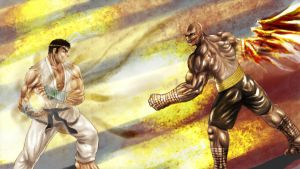 Ryu Vs Sagat by guugoo